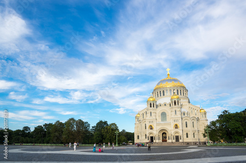 Naval cathedral in Kronshtadt, Saint-Petersburg, Russia - 201171639