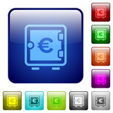 Euro strong box color square buttons - 201173008