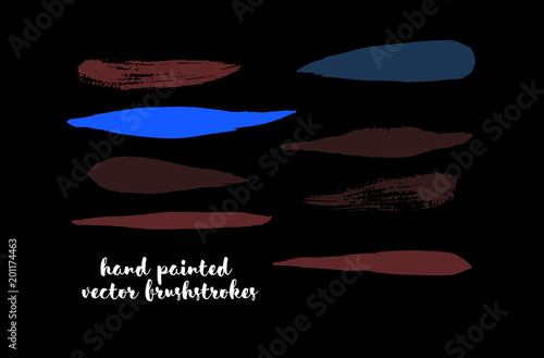 Graffiti Lines. Hand Painted Blue Buttons, Turquoise Highlights. Vector Brushstrokes or Banners. Textured Doodles or Smears. Background Colorful Swatch Collection Vintage Logo Element. Scribble Paint