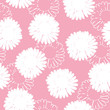 Floral background. Seamless pattern with white flowers on a pink background. It can be used for packing of gifts, registration of notebooks, diaries, tiles fabrics backgrounds. Vector image. - 201176007