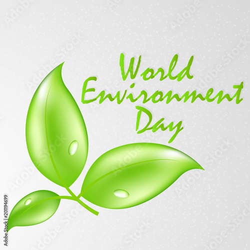 nice and beautiful abstract or poster for World Environment Day with nice and creative design illustration in a background.