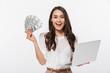 Portrait of a satisfied asian businesswoman