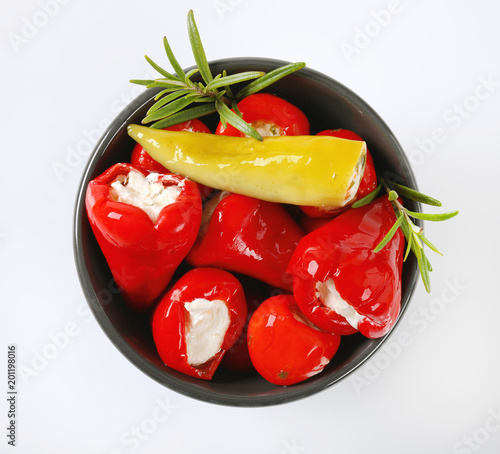 cheese stuffed red peppers - 201198016