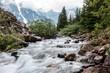 View of the mountain river. Ontario Canada, Summer