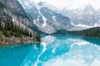 Moraine lake in Banff National Park Canada