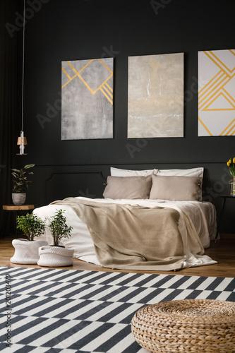 Retro room with carpet