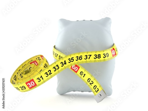 Pillow with centimeter