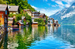 Hallstatt, Austria. View to Hallstattersee Lake and Alps - 201210868