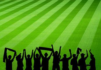 Fußball Stadion mit jubelnden Fans
