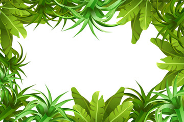 Tropical jungle background with space for text