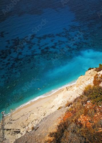 Aluminium Tropical strand Levkas, Greek island in the Ionian Sea
