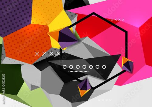 Kolor 3d skład geometryczny plakat