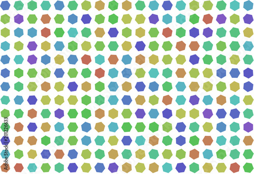 Abstract colored hexagon shape pattern. Vector, concept, backdrop & wallpaper. - 201226633