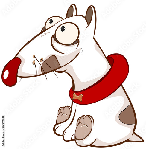 Fotobehang Babykamer Illustration of a Cute Dog. Cartoon Character