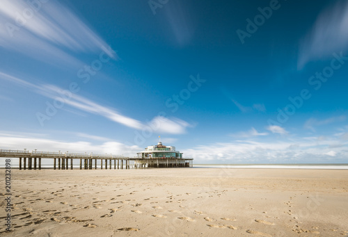 The palace pier at Blankberg (Belgium) on the fascinating north sea