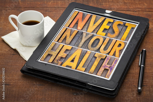 Foto Murales invest in your health concept