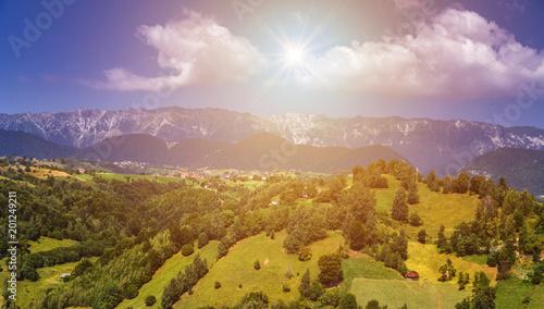 Tuinposter Honing Landscape in Transylvania, Carpathian Mountains, Romania.
