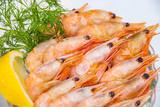 boiled shrimp with lemon - 201251027