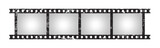 Six empty retro frames of 35 mm film strip - 201267217
