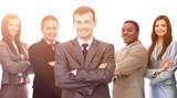 portrait of multiethnic business team - 201269090