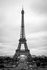 Black and White Eiffel in May