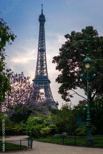 Wall mural Eiffel in spring