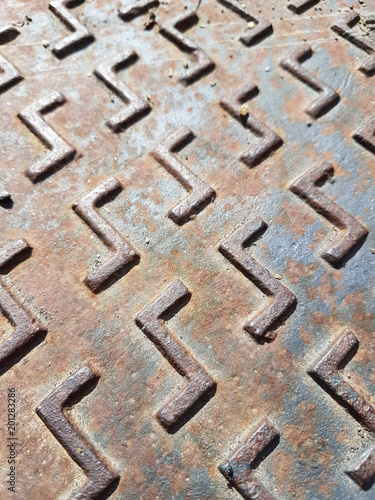 Textura metálica oxidada