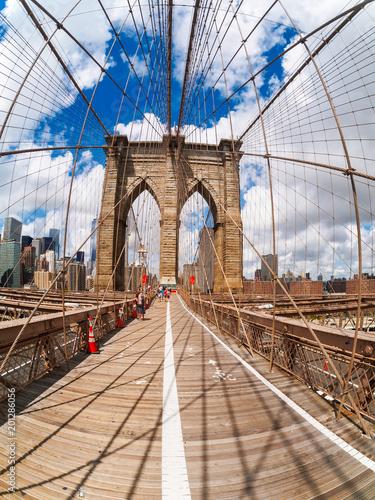 Foto Murales The Brooklyn Bridge in New York City