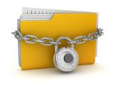 Locked Yellow Folder