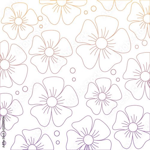 beautiful flowers background, colorful design. vector illustration - 201288206