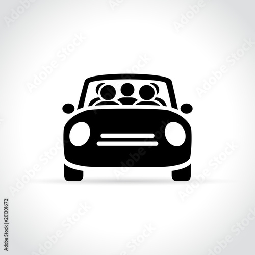 carpooling icon on white background - 201301672