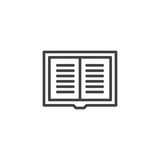 Text book outline icon. linear style sign for mobile concept and web design. Library reading simple line vector icon. Notebook symbol, logo illustration. Pixel perfect vector graphics - 201304295