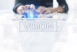 Vision concept. Business, Internet and technology concept. - 201305270