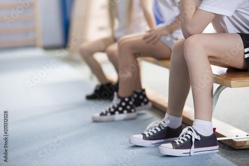 Children in sneakers