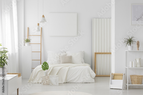 Bedroom with large bed interior