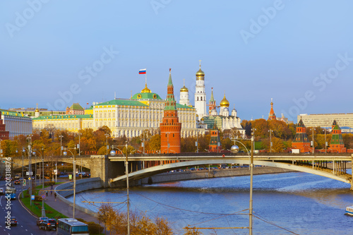 Fotobehang Moskou Kremlin on sunset in Moscow Russia