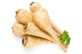 Parsnip isolated on the white background.