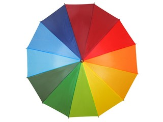 Rainbow umbrella on white © Andrzej Tokarski