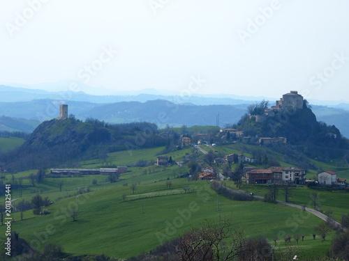 Aluminium Wit castello di rossena e torre di rossenella