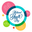 nice and beautiful abstract or poster for National Youth Day with nice and creative design illustration.