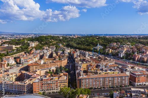 Widok od Sant Peters bazyliki w Watykanie - Rzym Włochy