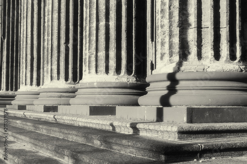 Colonnade of the Kazan Cathedral in Saint Petersburg Russia. Sepia tones applied - 201339878