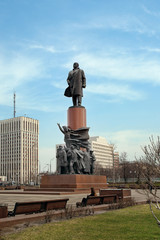 Monument to Vladimir Lenin on Kaluzhskaya Square in Moscow city