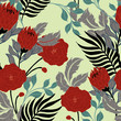 Abstract elegance pattern with floral background. - 201349094