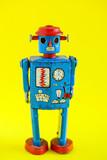 A vintage wind up toy robot - 201349006
