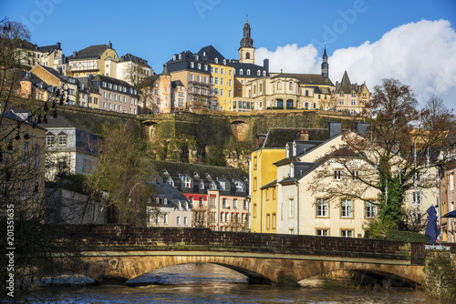 Foto Murales Alzette River and Grund Quarter in Luxembourg City