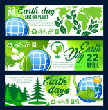 Save Planet banner for Earth Day celebration