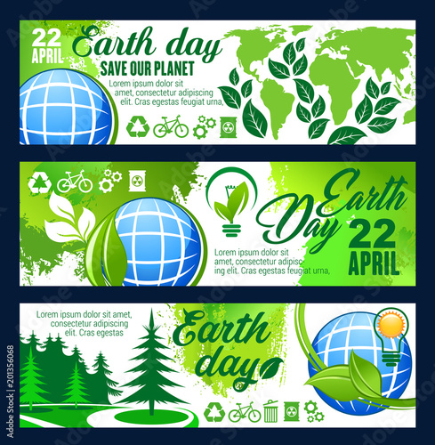 Save Planet banner for Earth Day celebration - 201356068