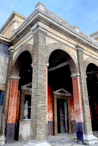 Foto Murales old roman style building architecture artistic ancient