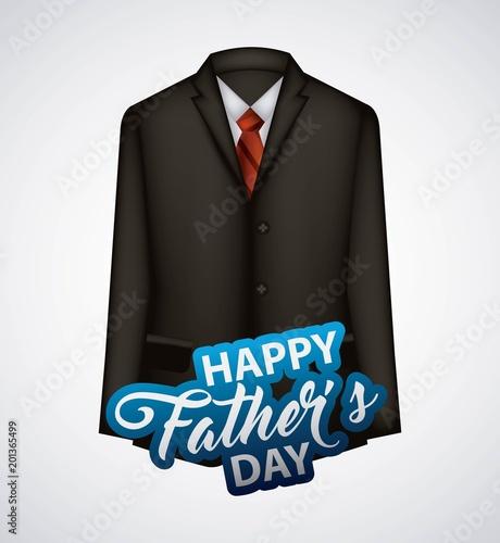 szczęśliwy dzień ojców białe tło czarny garnitur elegancki data najlepsza tata ilustracji wektorowych